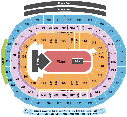 seating chart for Little Caesars Arena Dua Lipa - eventticketscenter.com