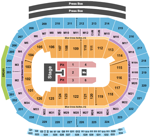 Little Caesars Arena seating chart event tickets center