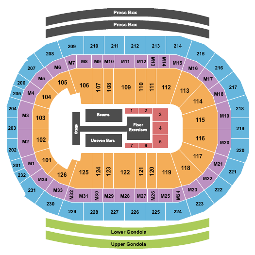 seating chart for Little Caesars Arena Gold Over America Tour - eventticketscenter.com