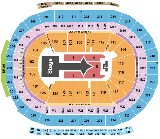 Little Caesars Arena Floor Plan