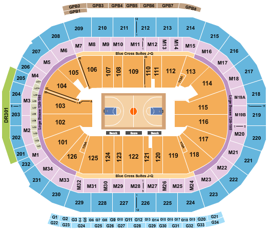 seating chart for Little Caesars Arena NCAA - eventticketscenter.com