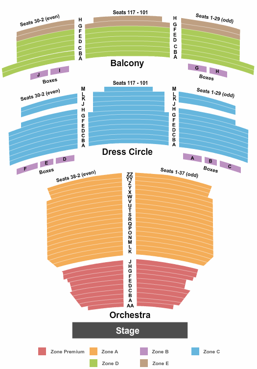 Lyric Theatre - New York Floor Plan