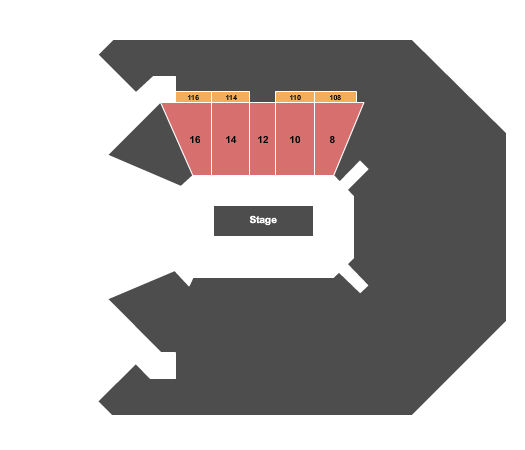 MGM Grand Garden Arena Seating Map