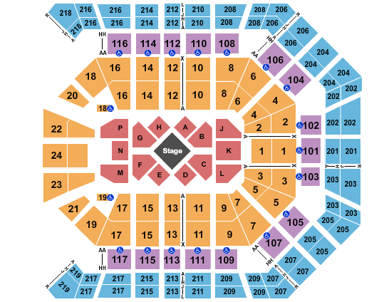 MGM Grand Garden Arena seating chart event tickets center