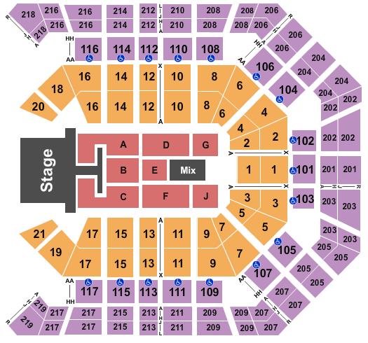 MGM Grand Garden Arena Floor Plan