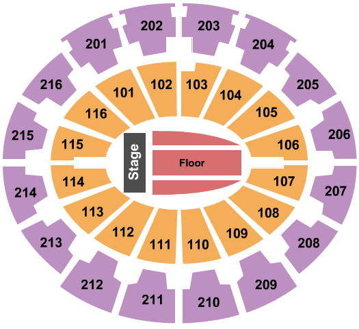seating chart for Mabee Center Endstage 2 - eventticketscenter.com