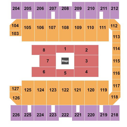 Macon Centreplex seating chart event tickets center