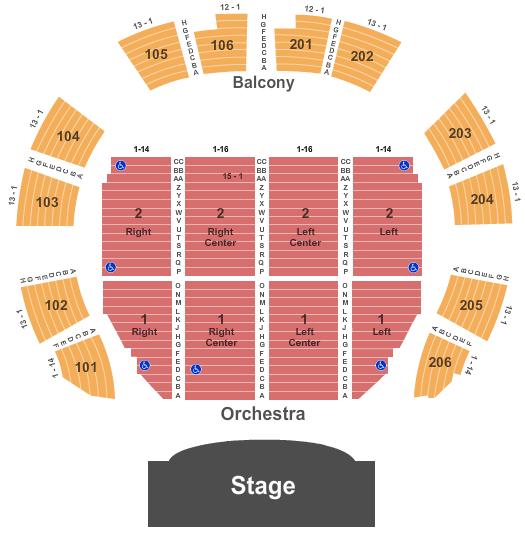 Macon City Auditorium Seating Chart Plan
