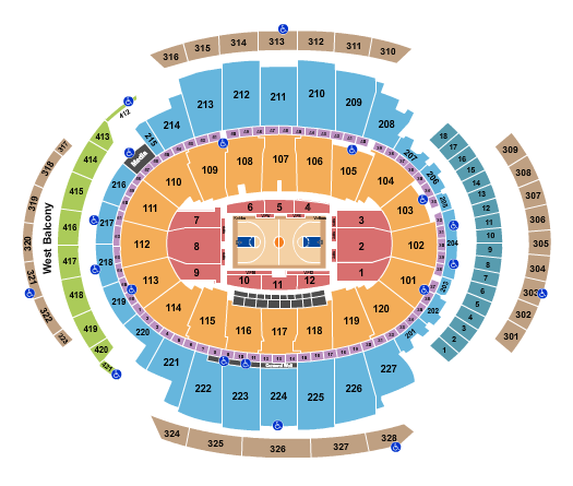 Madison Square Garden Basketball Rows seating chart - eventticketscenter.com