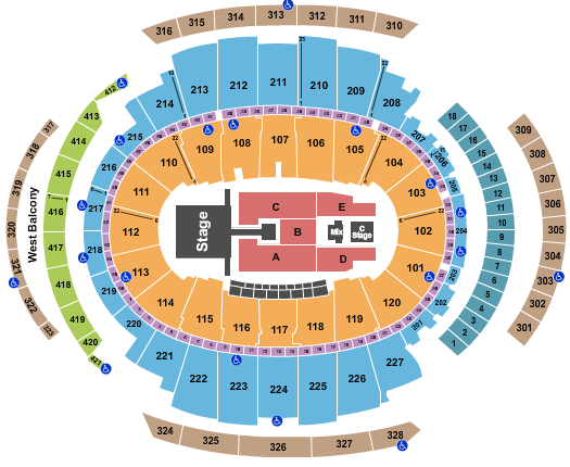 Madison Square Garden Enrique Iglesias seating chart - eventticketscenter.com