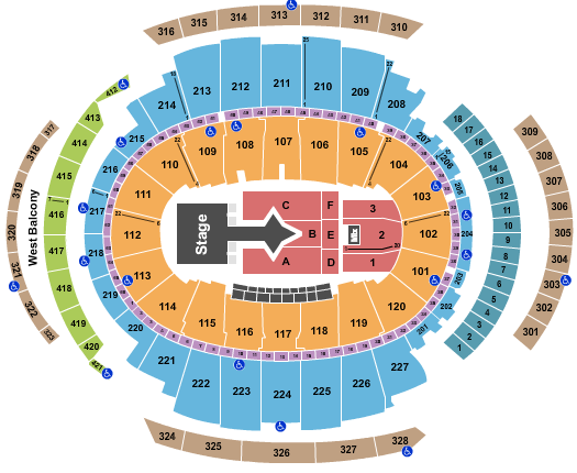 seating chart for Madison Square Garden Justin Bieber - eventticketscenter.com