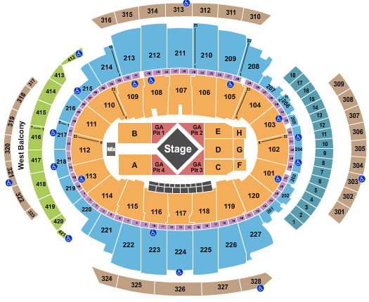 Luke Combs Madison Square Garden Seating Chart