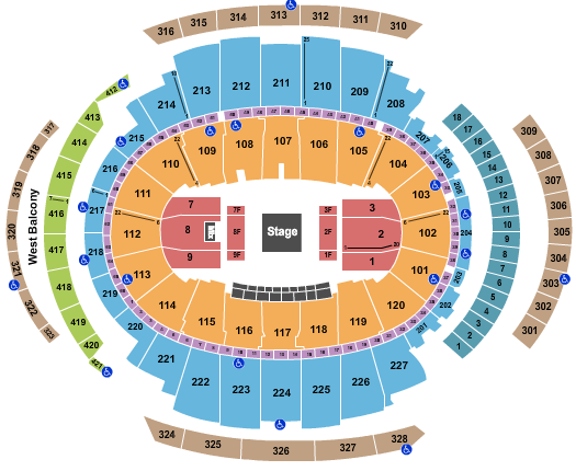 Madison Square Garden seating chart event tickets center