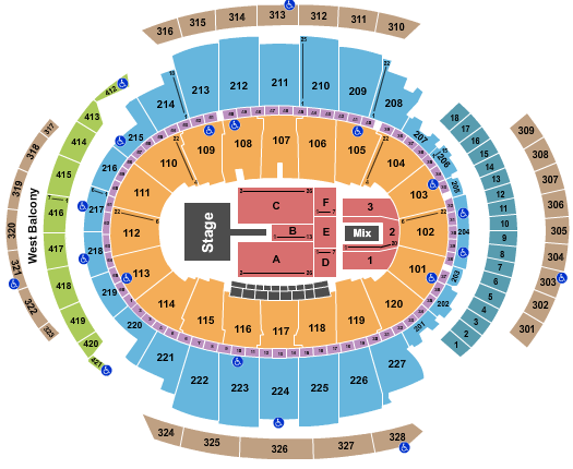 seating chart for Madison Square Garden Maroon 5 - 2021 - eventticketscenter.com