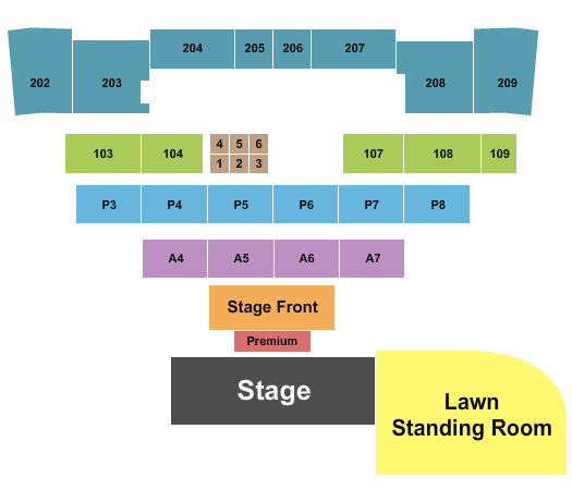 Magic City Casino - Amphitheater Seating Chart