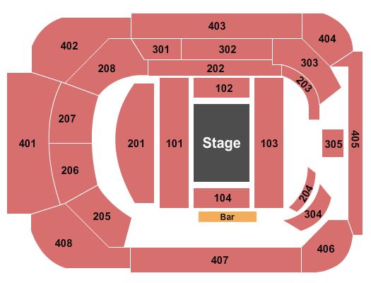 Magic Mike Theater at Sahara Hotel & Casino Seating Chart Plan