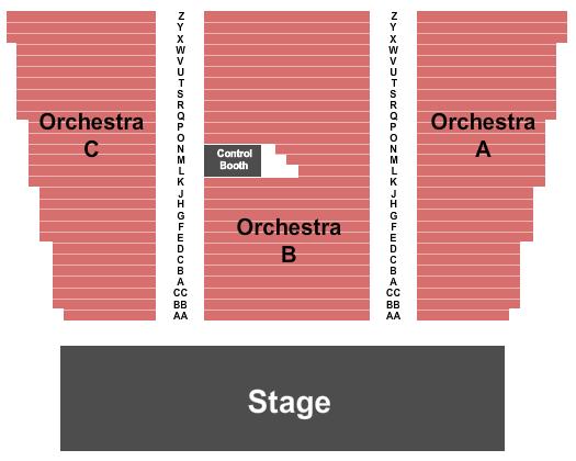 Main Street Music Hall Seating Chart