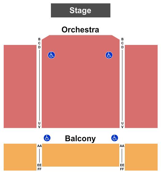 Majestic Theatre - PA Seating Chart Plan