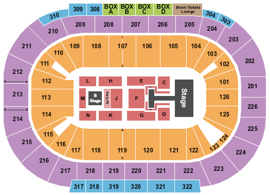 Mandalay Bay - Michelob ULTRA Arena seating chart event tickets center