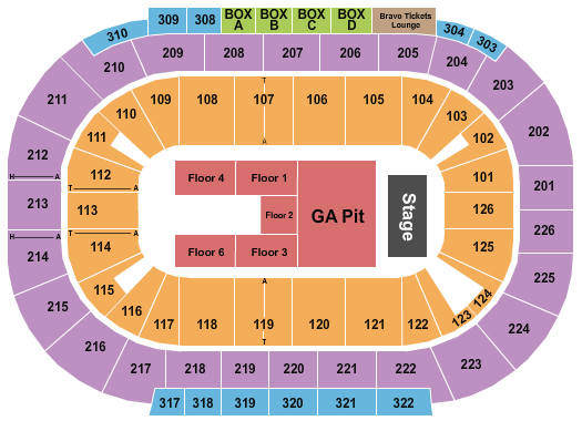 Mandalay Bay - Events Center Floor Plan