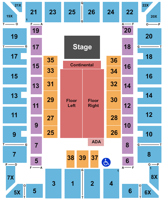 Martin Luther King Jr. Arena seating chart event tickets center