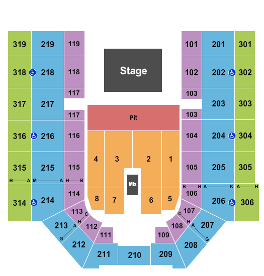 Mayo Clinic Health System Event Center seating chart event tickets center
