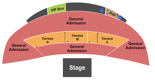 McGrath Amphitheatre Seating Chart