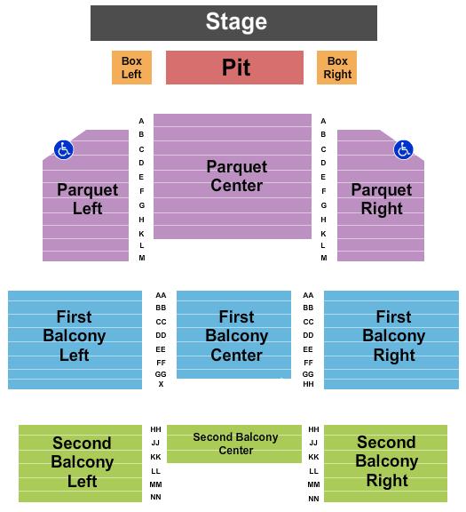 McPherson Opera House Seating Chart