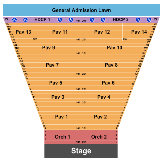 Meadow Brook Amphitheatre Seating Chart