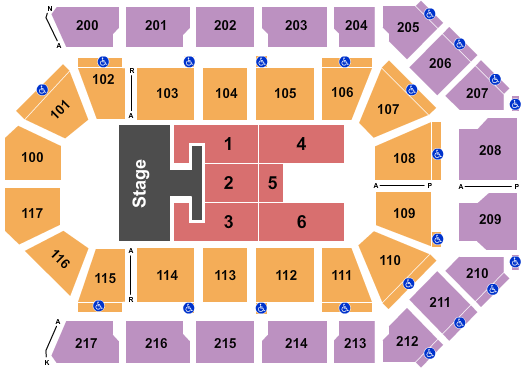 Mechanics Bank Arena Floor Plan