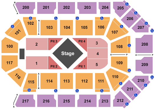 Mechanics Bank Arena seating chart event tickets center