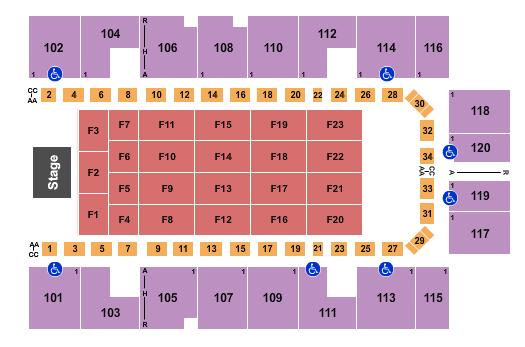 Mesquite Arena Floor Plan