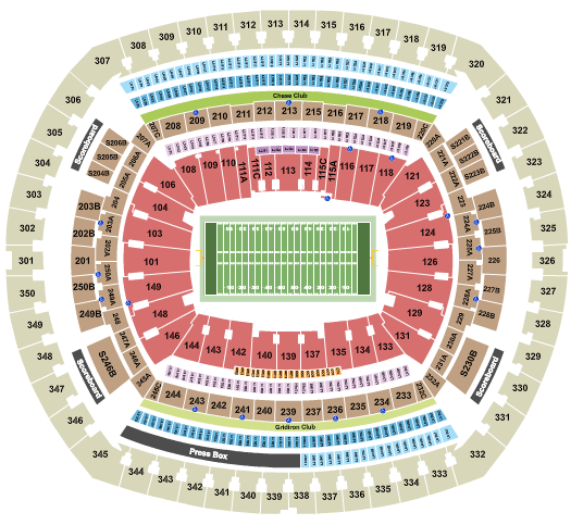MetLife Stadium Floor Plan