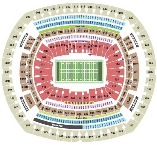 MetLife Stadium seating chart event tickets center