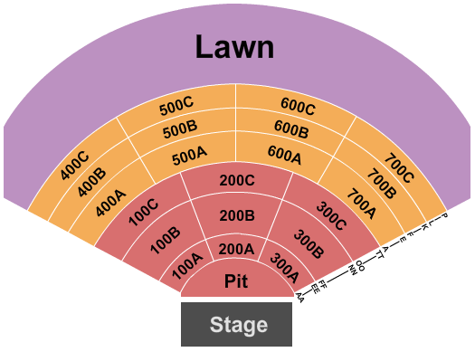 Michigan Lottery Amphitheatre at Freedom Hill Floor Plan