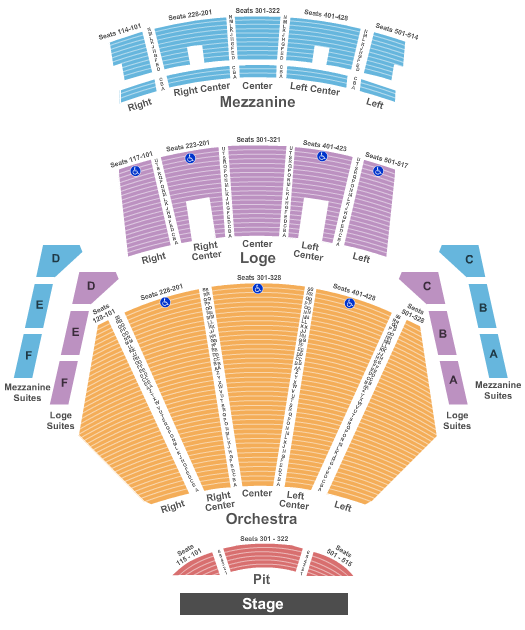 Microsoft Theater seating chart event tickets center
