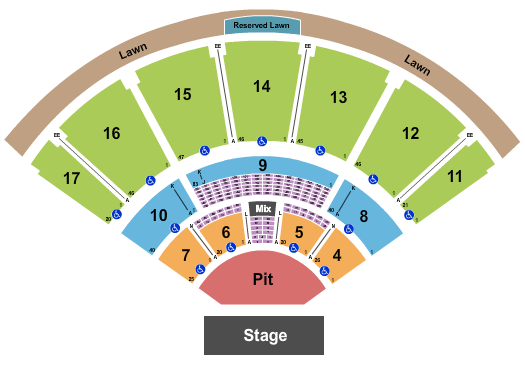 MidFlorida Credit Union Amphitheatre At The Florida State Fairgrounds seating chart event tickets center