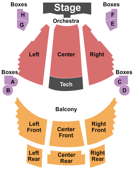 Mishler Theatre Seating Chart