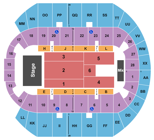 Mississippi Coast Coliseum Kevin Gates seating chart - eventticketscenter.com