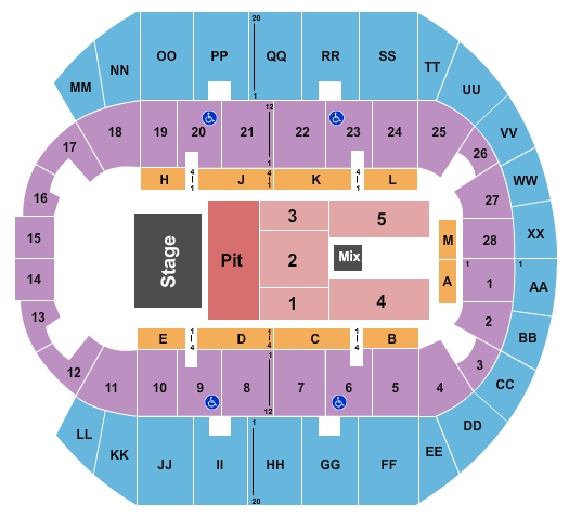 Mississippi Coast Coliseum seating chart event tickets center
