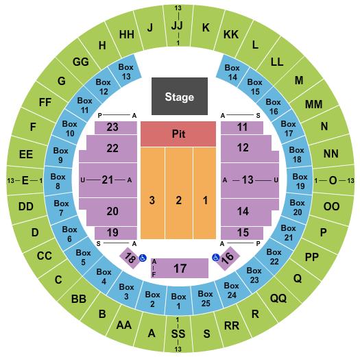 Mobile Civic Center Arena Floor Plan