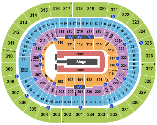 Moda Center at the Rose Quarter seating chart event tickets center