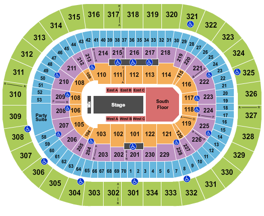 Moda Center at the Rose Quarter Floor Plan
