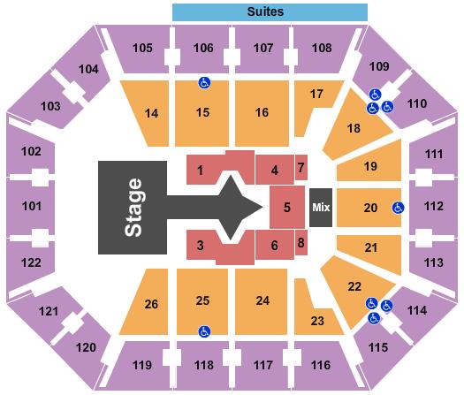 Mohegan Sun Arena - CT Floor Plan