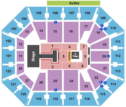Mohegan Sun Arena - CT seating chart event tickets center
