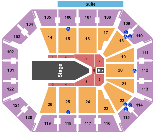seating chart for Mohegan Sun Arena - CT The Weeknd - eventticketscenter.com