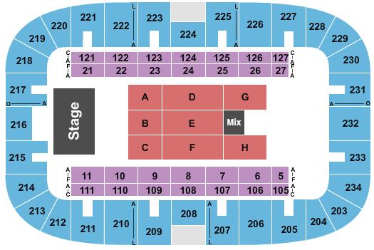Monroe Civic Center Arena Seating Chart