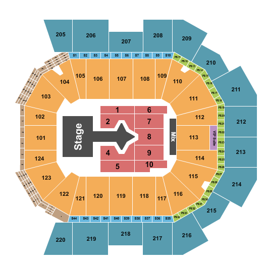 Moody Center ATX seating chart event tickets center