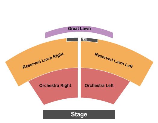 Moonlight Amphitheatre Seating Map