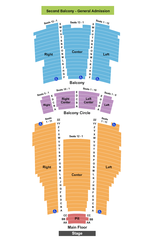 Moore Theatre - WA Floor Plan